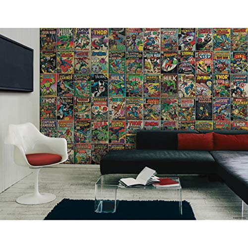 RoomMates RMK11410M Marvel Comic Cover Peel and Stick...