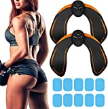 francoscavo654 2 Pack Butt Hips Trainer, Upgrade Muscle Buttock Fitness Training, Home Office Exercise Equipment, 10pcs Free Gel Pads (Hips Trainer,Black)