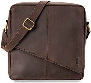 LEABAGS Barcelona genuine buffalo leather crossbody bag in vintage style