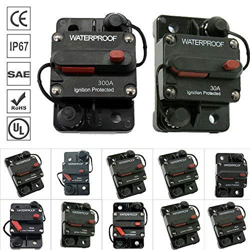 Bestine - Interruttore automatico in linea, portafusibili, blocco fusibili in linea per auto audio, sistema di protezione 80 A