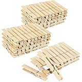 Product Image of the 100 Pack Juvale Large Wooden Clothespins (4 x 0.5 Inches)