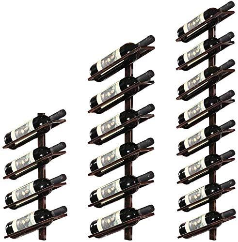 Yxsd Estante del Vino del Hierro Europea Vino Rack De Pared Bar Colgar De La Pared del Hierro Vino Estante De Exhibición del Vino De Almacenamiento De Cajas De 18 Botellas