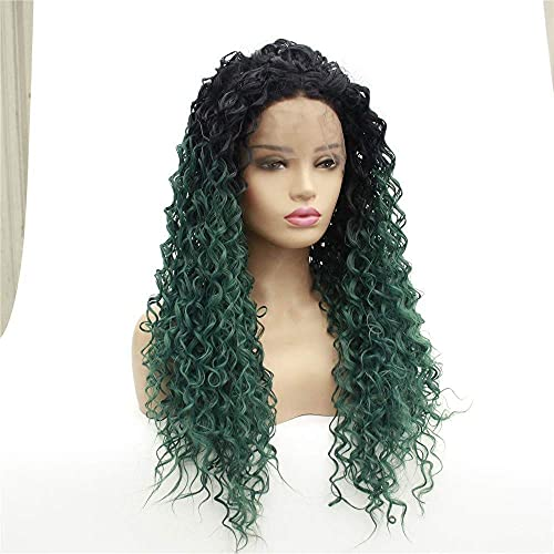 Frontal Lace Lady Gradient Small Roll Long Long Roury House WHY666