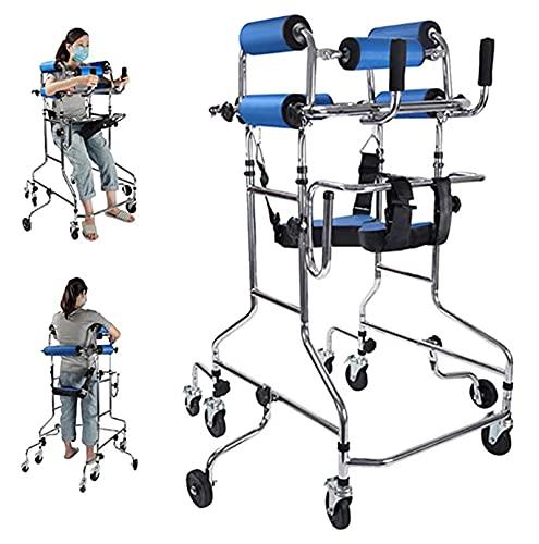 HYTGF Andador para Ancianos, Andadores para Ancianos, Andador para Adultos De Altura Regulable Ayuda A Caminar Bipedestador para Entrenamiento Y Rehabilitación De Miembros Inferiores ✅
