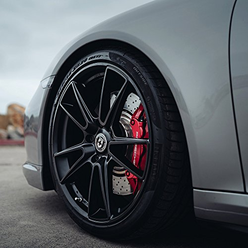 """19"""" HRE Wheels FF04 Flow Form Tarmac Black Concave Rims Only Set Of 4 Includes Vibe Motorsports License Plate Frames Fits Audi B7 A4 S4"""