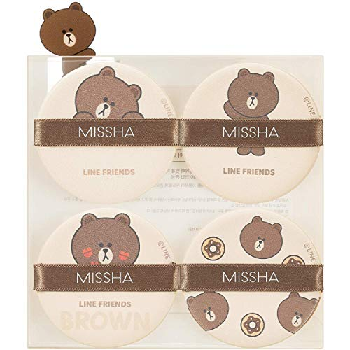 Missha Tension Pact Puff_Line Friends Edition [Fitting 4P_#01 Brown]