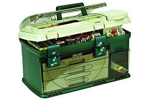 Plano 3-Drawer Tackle Box, Green Metallic/Beige, Premium Tackle Storage, Large (737-002)