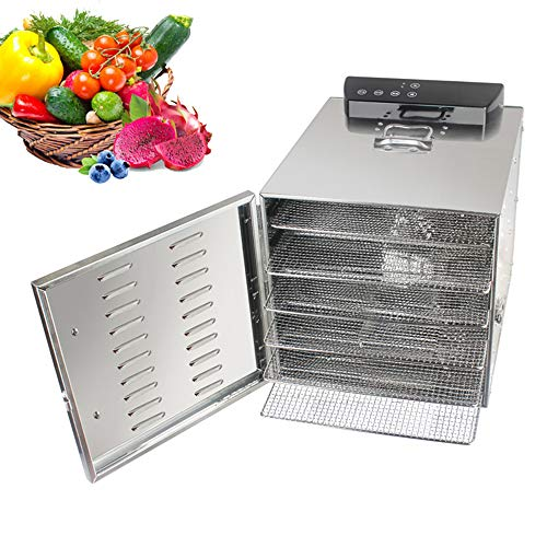 New CJSWT Fruit Dehydrator, Commercial Grade Stainless Steel Digital Food Dehydrator, 6 Trays -,360 ...