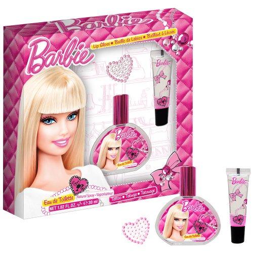 Mattel Barbie Beauty Geschenk Set EDT und Lipgloss–3Stück