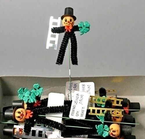 Schornsteinfeger Figuren mit Leiter, Kleeblatt und Pilz als Glückssymbole. 48 Stück
