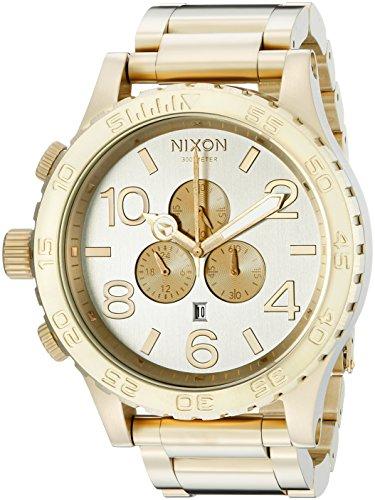 Nixon Men's A083-1219 51-30 Chrono Light Gold-Tone Watch