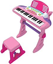Lenoxx Childrens Toy Electronic Keyboard with 37 Keys (Pink)