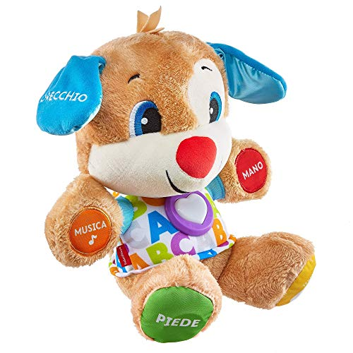 Fisher-Price il Cagnolino Smart Stages Ridi e Impara, Morbido Peluche Educativo con Musica e Canzoni,...