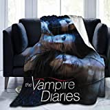 HANKCLES The Vampire- Diaries Throw Blanket Fleece Warm Blanket Throw Size Lightweight Super Soft Cozy Bed Blanket Microfiber for Adults Teenager 50x40 inches