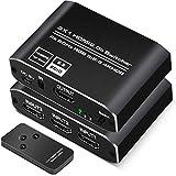 HDMI Switch 3 Entradas a 1 Salida, HDMI Conmutador 3D 4K 1080P Ladron HDMI Switch con Mando a Distancia para PS3/4 Xbox Chromecast DVD BLU-Ray Decodificador Movistar Receptor Satélite PC TV