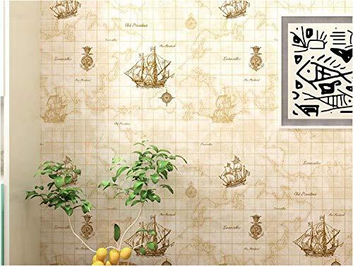 Pmhhc Mittelmeer Segeln Weltkarte Segeln Boy Zimmer Schlafzimmer Büro Restaurant Nonwoven 3D Wallpaper