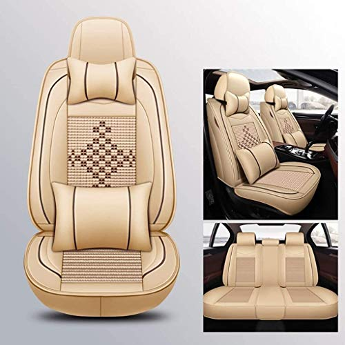 LUCK Asiento de coche cubierta de asiento de coche cubierta cuatro estaciones universal compatible con Mercedes-AMG GT, de clase CLS AMG, de clase SL AMG, de clase SLK AMG, de clase SLS AMG 5 asientos