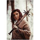 Z Nation Anastasia Baranova as Addy lloking back with spiked bat 8 x 10 Inch Photo