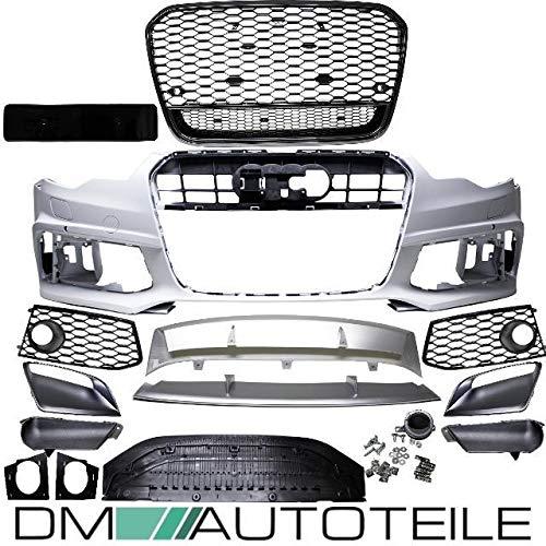 DM Autoteile Sport Wabendesign Kühlergrill Hochglanz Schwarz passt für A6 4G C7 bj 10-15 außer RS6 S6