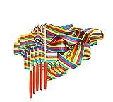 Binghang 5pacchetto colorato palestra arcobaleno nastri Dance danza nastri stelle filanti streamers bastoni nastro da ginnastica ritmica aste per bambini bacchette Rods