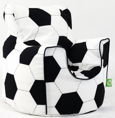 Cotton Football Bean Bag Arm Chair with Beans Child size