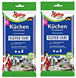 Poliboy, salviette umidificate da cucina, potente e accurata pulizia per tutte le superfici lavabili, confezione da 2 x 24 panni, prodotto in Germania (etichetta in lingua italiana non garantita)