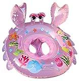 Lukis Baby Kleinkinder Krabbe Schwimmsitz Aufblasbarer Schwimmring Kinderboot 75x70cm Pink