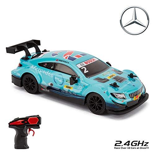 CMJ RC Cars ™ Coche de control remoto con licencia oficial Mercedes DTM 1:24 Escala 2.4Ghz Azul