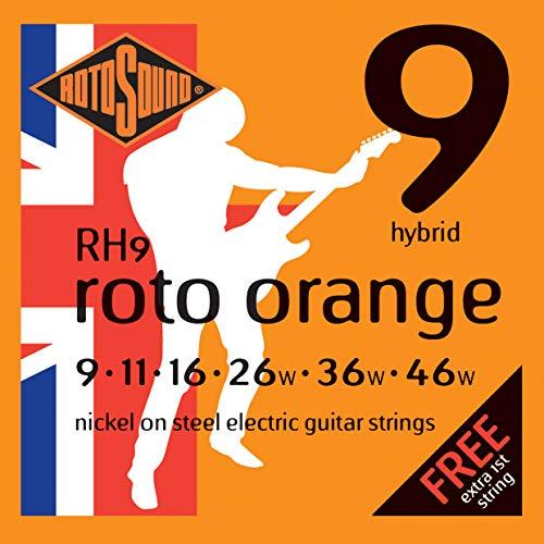Rotosound Nickelsaiten für E-Gitarren, Hybrid Stärke 9 11 16 26 36 46