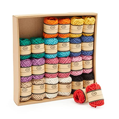 Juvale Decorative String, Twine for Crafts, Gift Wrapping, 11 Yards Each (24 Rolls, 2mm)