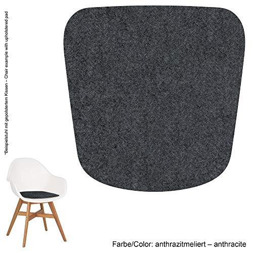 Feltd. Eco Filz Auflage 4mm Simple - geeignet für IKEA Fanbyn (mit und ohne Armlehne) // - 29 Farben inkl. Antirutschunterlage (anthrazitmeliert)