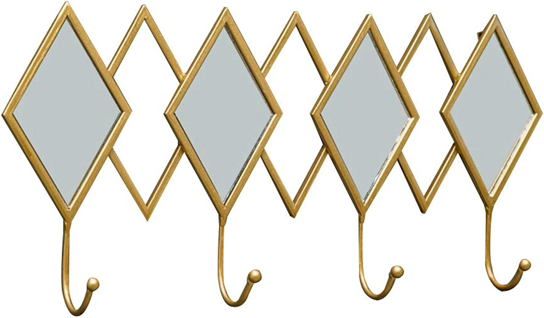 Nordic Creative Coat Rack Hanger, Home Multipurpose Wall Coat Rack Key Hook, Suitable for Living Room Bedroom Foyer (gold)