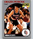 1990-91 NBA Hoops #248 Drazen Petrovic RC Rookie Portland Trail Blazers Official Basketball Trading Card