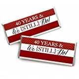 We Still Do - 40th Wedding Anniversary Party - Candy Bar Wrappers Party Favors - Set of 24