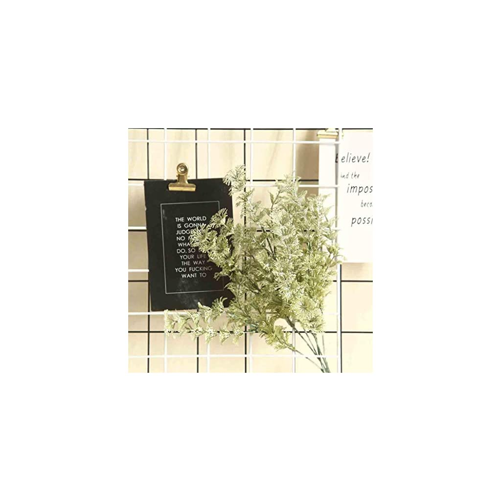 Iulove_Artificial flowers Silk Lambs Ear Leaf Spray Greenery for Home Décor Wedding