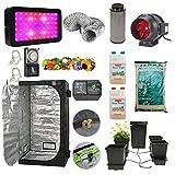 Complete Automated Grow Tent Kit - 4-Pot AutoPot System - 1.2 x 1.2 x 2m Green Box Grow Tent - 600w LED Grow...