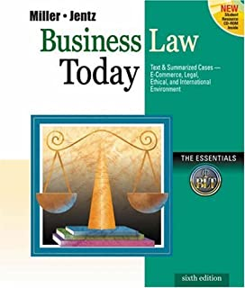 comprar comparacion Business Law Today: Essentials with Online Legal Research Guide