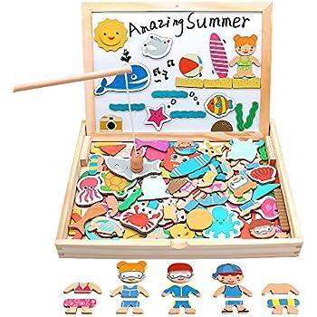 Nene Toys - Puzzle Infantil de Madera + Coche de Juguete para ...