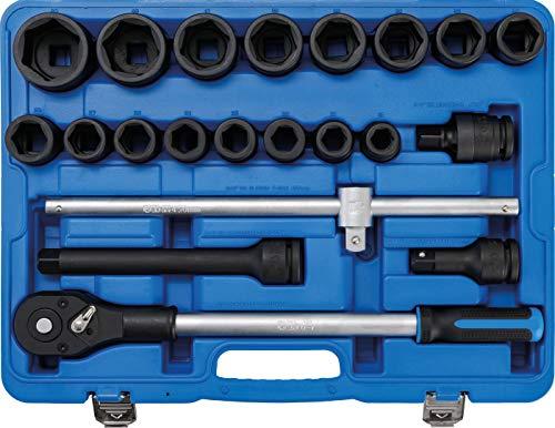 """BGS 5258   Juego de llaves de vaso de impacto   20 mm (3/4"""")   21 piezas"""