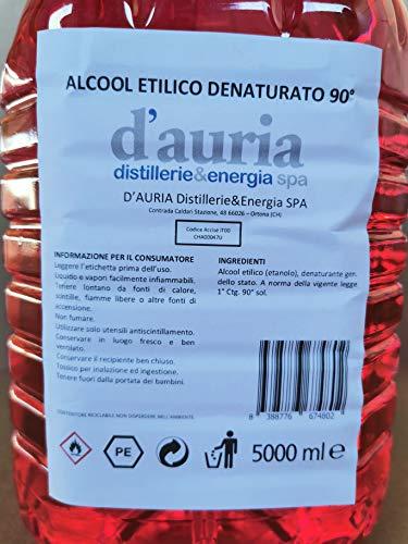 Alcool etilico denaturato 90° - 5 Litri