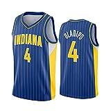 WGFI Camisetas De Hombre - Indiana Pacers # 4 Victor Oladipo Uniformes De Baloncesto, Chaleco Sin Mangas Transpirable Bordado Jersey De Baloncesto Swingman Blue-XXL
