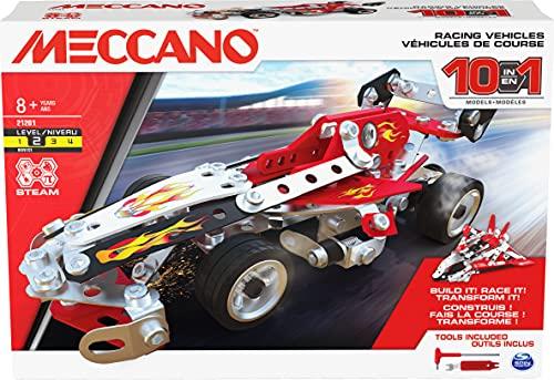Meccano, Multimodello da 10, kit di costruzioni, Veicoli da Gara, 225 pezzi - dagli 8 anni