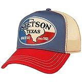 Stetson Cappellino Trucker Texas Home of BBQ Donna/Uomo - Berretto Baseball cap Mesh Snapback, con Visiera, Visiera Estate/Inverno - Taglia Unica Beige