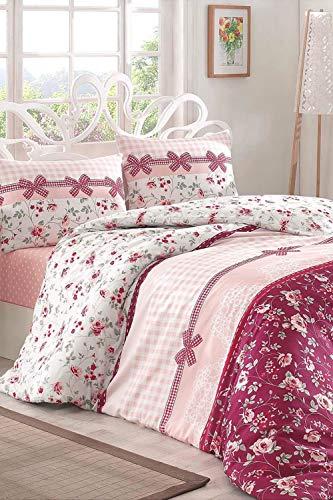 Juego de funda de edredón y funda de almohada para mujer, de algodón de rizo