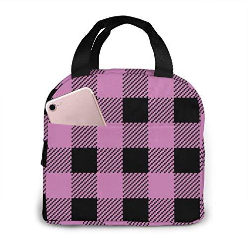Sac à déjeuner isotherme rose Buffalo Classic Beauty 3 avec poches et poignées durables pour le travail, l'école, les voyages
