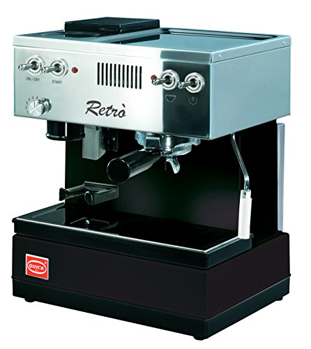 Quickmill Modell 0835 Retro Siebträger Espressomaschine, schwarz