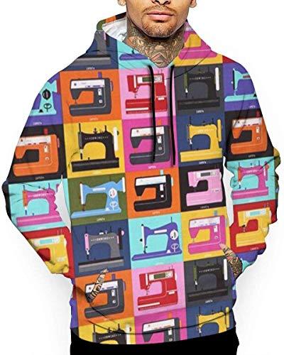 Naaimachine Unisex Hoodie Novelty Cool Lange Mouw Pullover Grote Zakken Hooded Grappige Print Sweatshirt