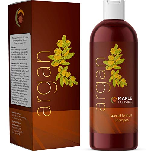 Pure Argan Oil Hair Growth Therapy Shampoo - Sulfate Free Dandruff Shampoo -...