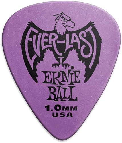 Ernie Ball 1.0mm Púrpura Everlast Púas 12 por paquete