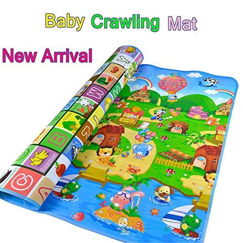 Baby Kid Peuter Crawl Matten Spelen Spel Opvouwbare Picknick Tapijt Letter Alfabet Farm Mat 1.8m x 1.2m(71 * 47